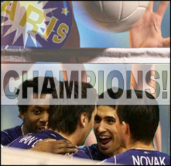 Le Paris Volley champion de France 2008/2009 !